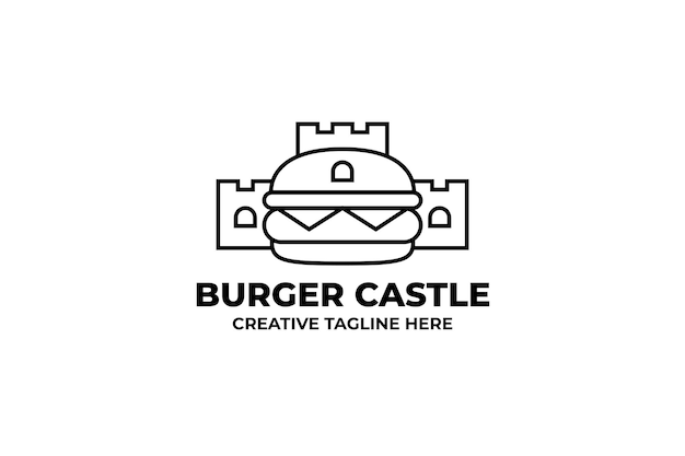 Logotipo da empresa burger castle fastfood