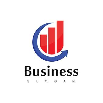Logotipo da empresa com diagrama de bom andamento para negócios ou empresa de vendas