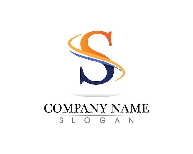 Logotipo da empresa corporativo letra s