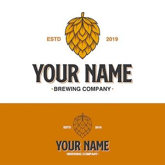 Logotipo da empresa de cerveja vintage