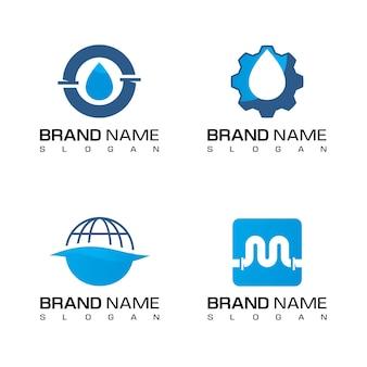 Logotipo da empresa de encanamento de água
