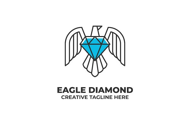 Logotipo da empresa de joias com diamantes eagle