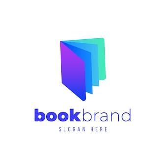 Logotipo da empresa de livros em gradiente