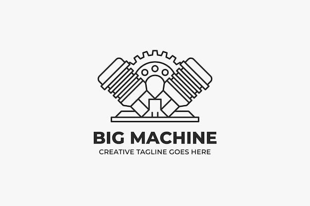 Logotipo da empresa de mecânico automotivo de garagem