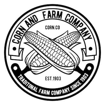 Logotipo da empresa de milho e fazenda