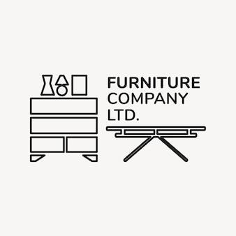 Logotipo da empresa de móveis, modelo de negócios para design de marca xx, interior da casa