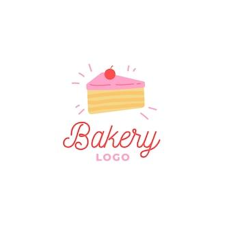 Logotipo da empresa de negócios de bolo de padaria