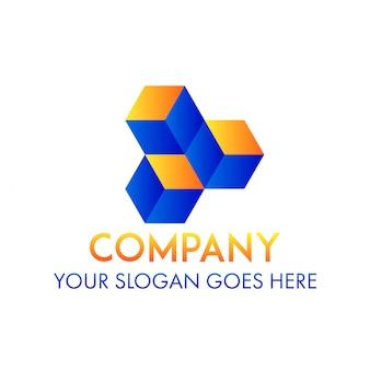Logotipo da empresa de negócios de cubo