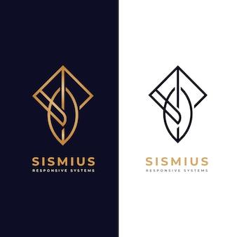 Logotipo da empresa de negócios de duas idéias