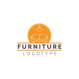 Logotipo da empresa de negócios de loja de móveis