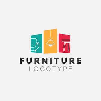 Logotipo da empresa de negócios de marca de mobiliário minimalista