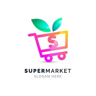 Logotipo da empresa de negócios de supermercado orgânico