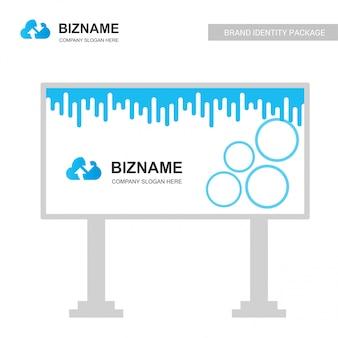 Logotipo da empresa de nuvem e hording