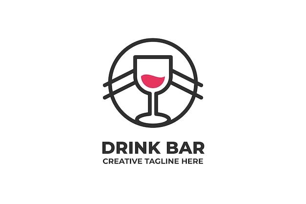 Logotipo da empresa drink bar cafe