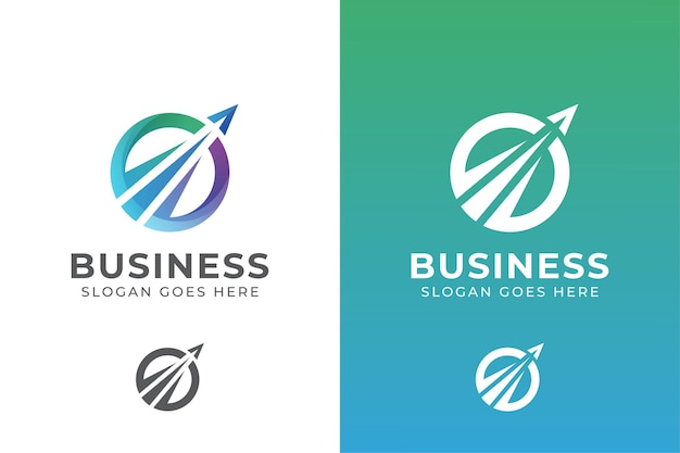 Logotipo da empresa elegante círculo. logotipo da agência de viagens de negócios