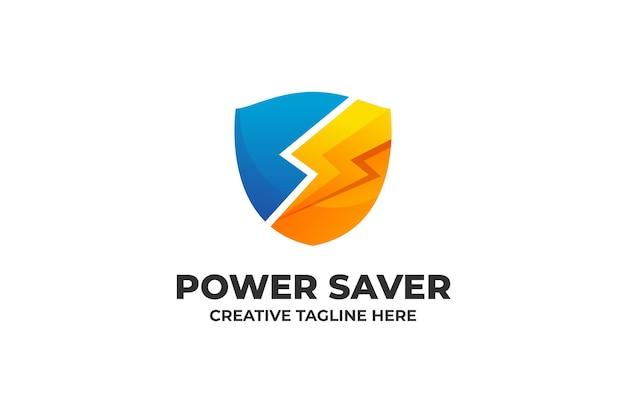 Logotipo da empresa gradiente de economia de energia