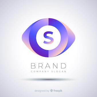Logotipo da empresa modelo abstrato gradiente
