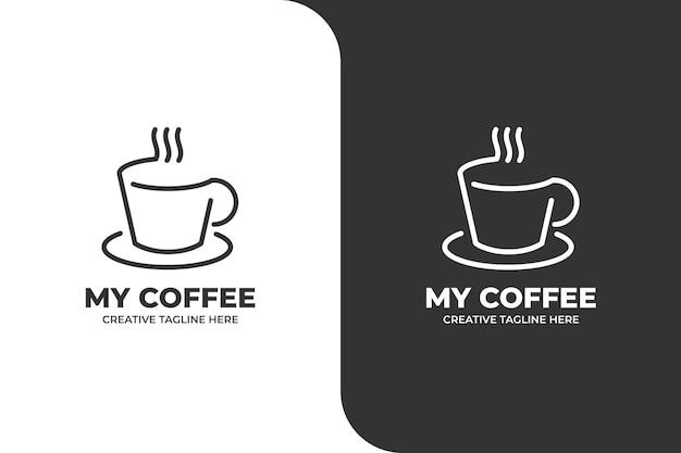 Logotipo da empresa monoline coffee shop