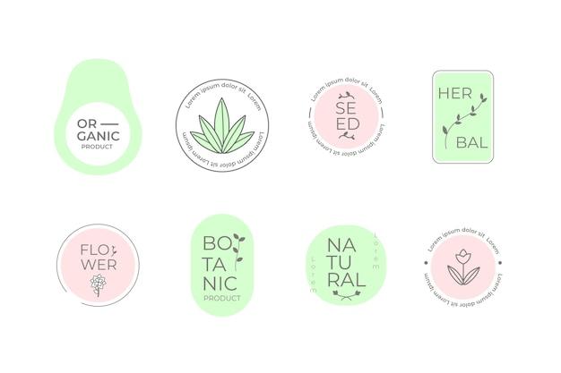 Logotipo da empresa natural definir estilo minimalista
