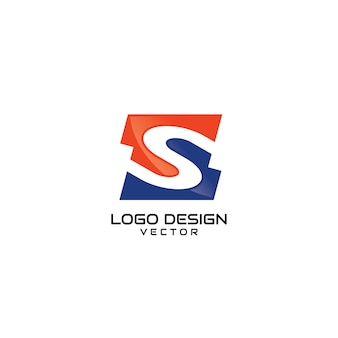 Logotipo da empresa resumo s letter
