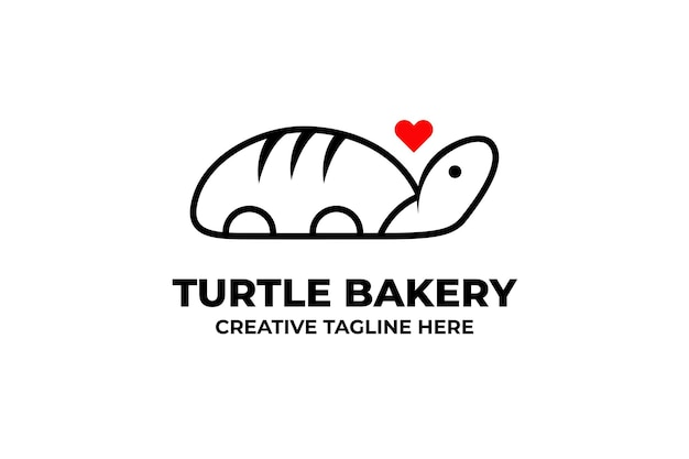 Logotipo da empresa turtle bakery bread