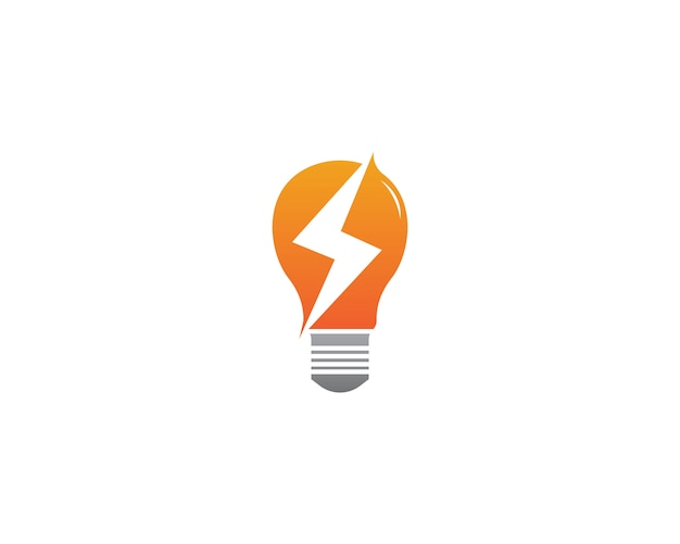 Logotipo da energia da lâmpada