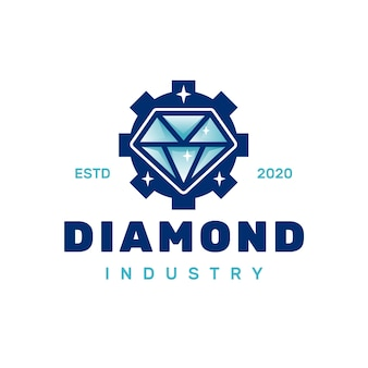 Logotipo da engrenagem de diamante