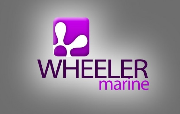 Logotipo da engrenagem rodas marinha