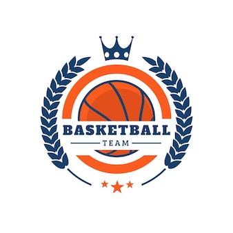 Logotipo da equipe criativa de basquete