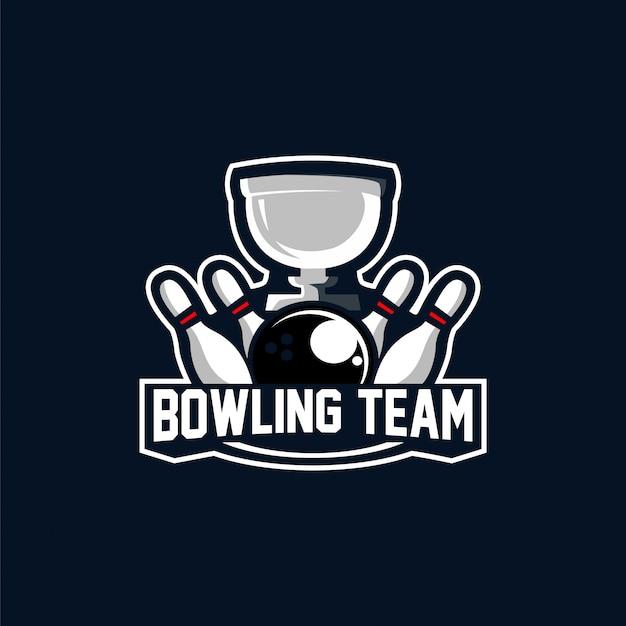 Logotipo da equipe de boliche