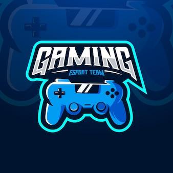 Logotipo da equipe de controle de jogos e esportes