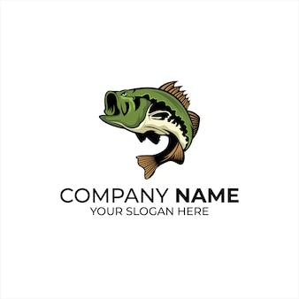Logotipo da equipe de esporte de peixe