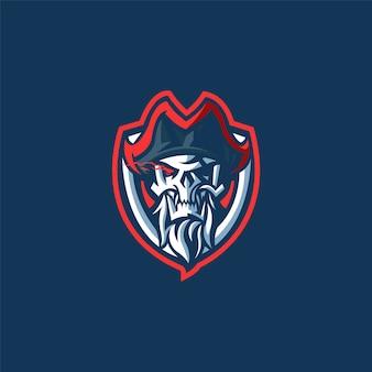 Logotipo da equipe de esportes com pirata