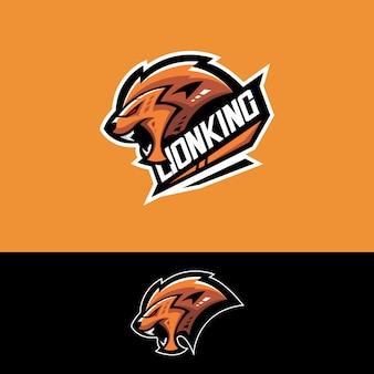 Logotipo da equipe de esportes-e com leão