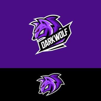 Logotipo da equipe de esportes-e com lobo