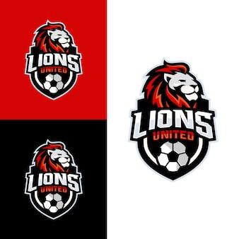 Logotipo da equipe de futebol de leão
