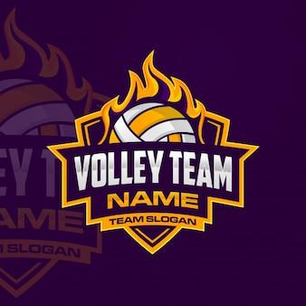 Logotipo da equipe de vôlei