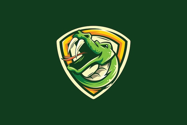 Logotipo da equipe snake mascote esport
