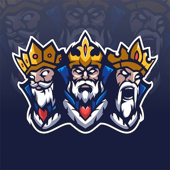 Logotipo da equipe three king e-sports