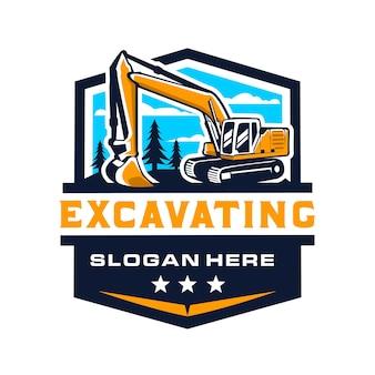 Logotipo da escavadeira