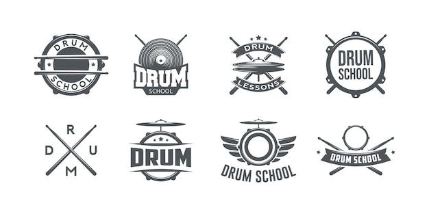 Logotipo da escola de bateria.