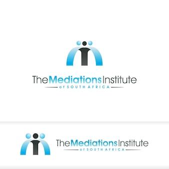 Logotipo da escola de mediação m