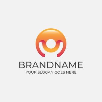 Logotipo da esfera de pessoas