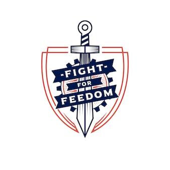 Logotipo da espada da liberdade