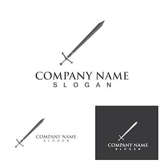 Logotipo da espada e modelo de vetor de símbolo eps10