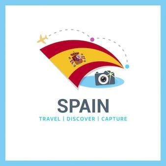 Logotipo da espanha de viagem