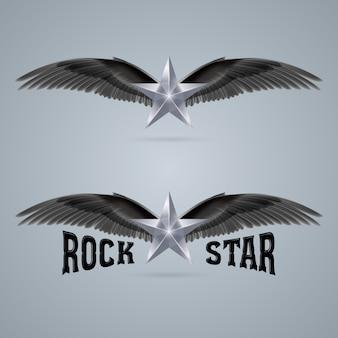 Logotipo da estrela do rock