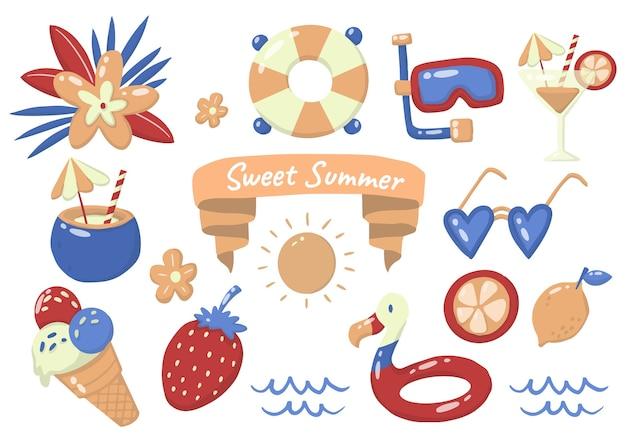 Logotipo da etiqueta de verão