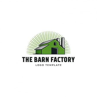 Logotipo da fábrica de celeiro
