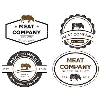Logotipo da fazenda da raça